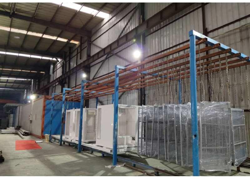 粉末喷涂生产线的涂层的组织与生产